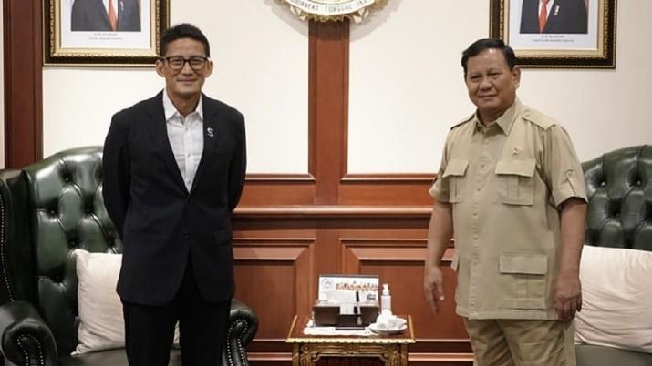 Sandiaga Uno Berkunjung ke kantor Prabowo Subianto. Dok: IG, Sandiuno