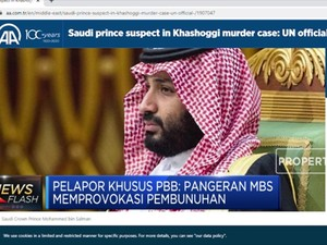 Pangeran MBS Dituduh Dalang Pembunuhan Khashoggi