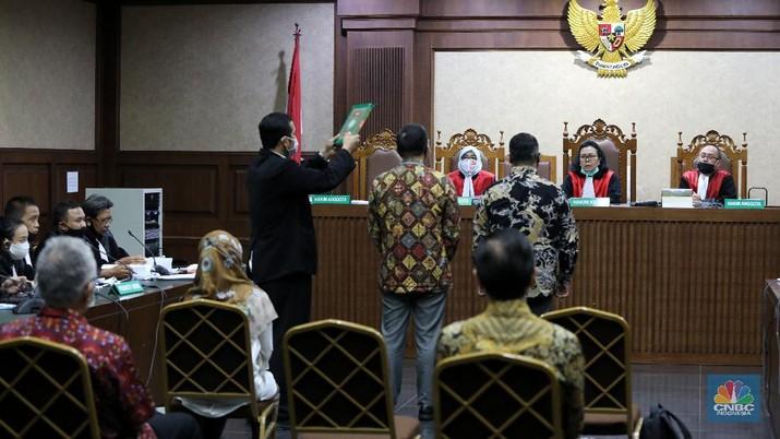 Lanjutan sidang Jiwasraya di PN. Jakarta Pusat. (CNBC Indonesia/Andrean Kristianto)