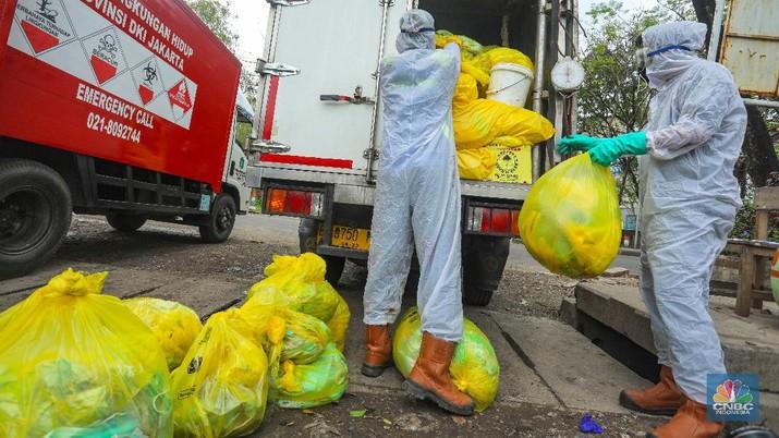 Ilustrasi limbah medis. (CNBC Indonesia/Andrean Kristianto)