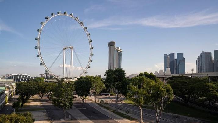 Ilustrasi resesi Singapura. AP/