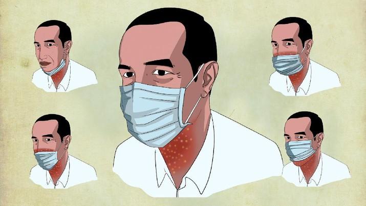 Infografis, Masker Jangan Turun ke Dagu