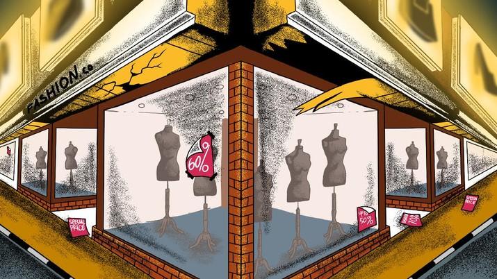 Infografis/gegara covid-19 ritel fesyen ternama tutup toko di 2020/Aristya Rahadian