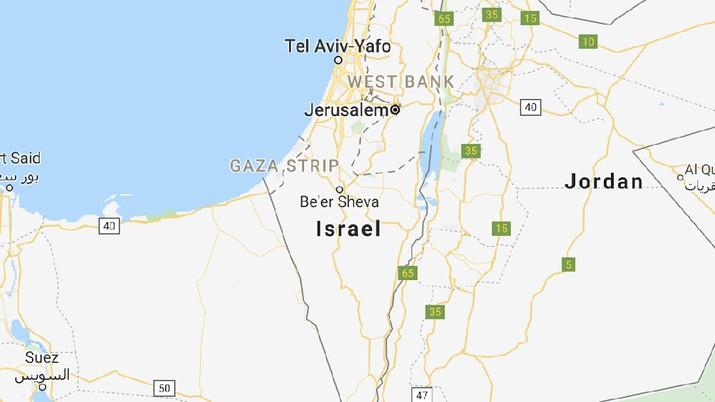 Peta Palestina tidak ada di Google Maps. (Gambar: GOOGLE)