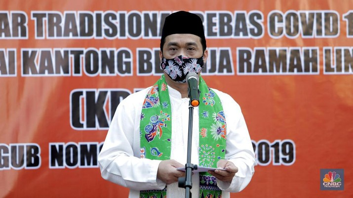 Wagub DKI, Ahmad Riza Patria. (CNBC Indonesia/Muhammad Sabki)