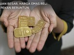 Cuan Besar, Harga Emas Reli 6 Pekan Beruntun