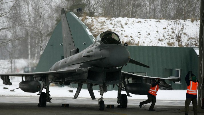 Jet Tempur jenis Eurofighter Typhoon (File Photo AP)