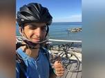 Tak Ada Pesawat, Pria Ini Bersepeda 48 Hari Pulang Kampung
