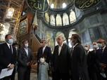 Resmi Jadi Mesjid, Erdogan Kunjungi Hagia Sophia