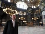 Gaya Presiden Erdogan ke Hagia Sophia Usai Dijadikan Masjid
