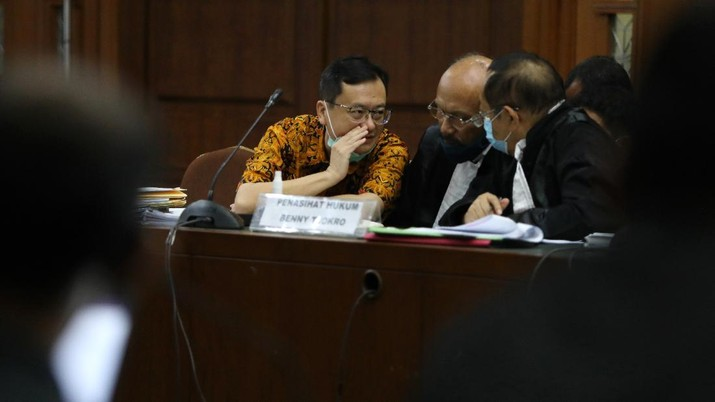 Sidang lanjutan Jiwasraya. CNBC Indonesia/Andrean Kristianto