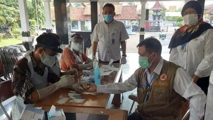 Bupati Pemalang Junaedi positif virus Corona atau COVID-19, Rabu (22/7/2020). (Istimewa via Detikcom)