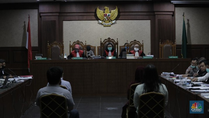 Sidang Tindak Pidana Korupsi PT Asuransi Jiwasraya (Persero) (CNBC Indonesia/Tri Susilo)