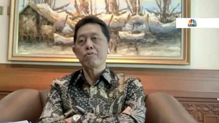 Anggota Dewan Komisioner OJK Heru Kristiyana di acara Webinar Nasional CNBC Indonesia bertema