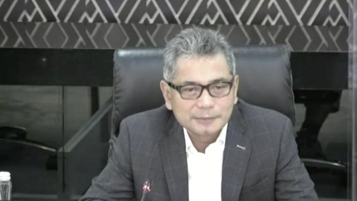 Direktur Utama PT Bank Rakyat Indonesia Tbk (BBRI) Sunarso di acara Webinar Nasional CNBC Indonesia bertema