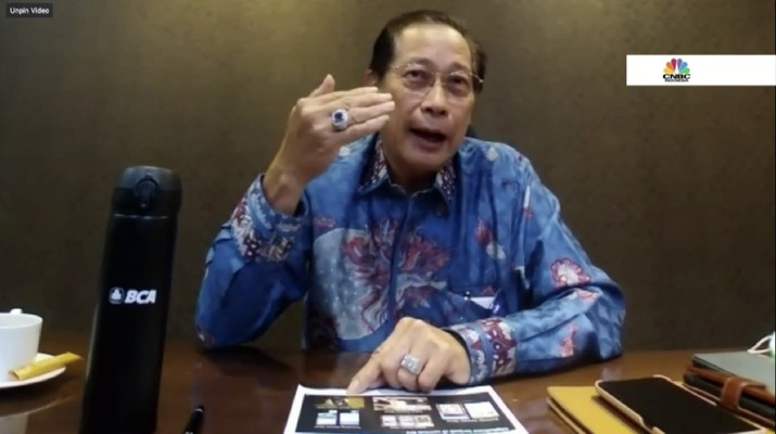 Presiden Direktur PT Bank Central Asia Tbk (BBCA) Jahja Setiaatmadja di acara Webinar Nasional CNBC Indonesia bertema