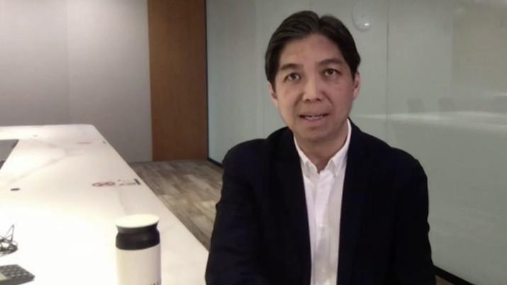 Presiden Direktur PT Bank DBS Indonesia Paulus Sutisna di acara Webinar Nasional CNBC Indonesia bertema