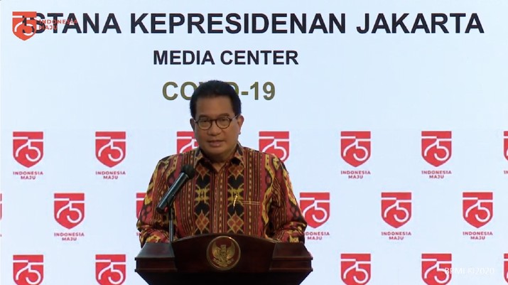 Keterangan Pers Juru Bicara Satgas Covid-19, Wiku Adisasmito  (Tangkapan Layar Youtube Sekretariat Presiden)