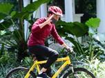 Negatif Covid-19, Jokowi Genjot Sepeda Olah Raga Pagi