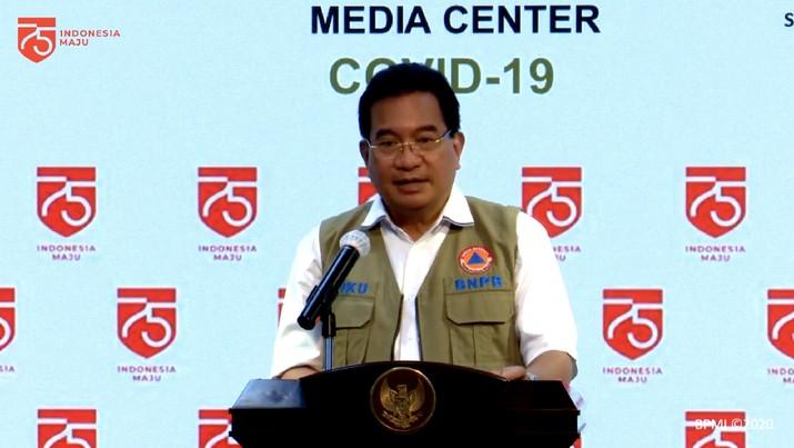 Juru Bicara Satgas Penanganan Covid-19 Wiku Adisasmito (Tangkapan Layar Youtube Sekretariat Presiden)