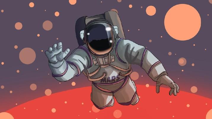 INFOGRAFIS, Negara-Negara Ini Berlomba Terbang ke Mars