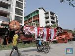 Penampakan 'Kuburan' Truk Sampah DKI di Cengkareng Jakbar