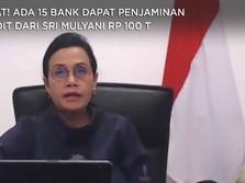 Catat! Ada 15 Bank Dapat Penjaminan Kredit dari Sri Mulyani