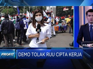 Demo KSPI Minta Pembahasan Omnibus Law Cipta Kerja Dihentikan