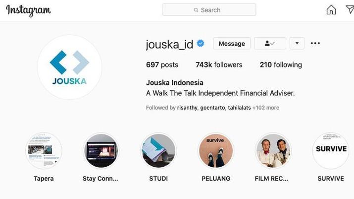 Instagram Jouska Indonesia @jouska_id