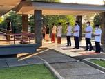 Pakai Masker, Jokowi Sholat Idul Adha di Istana Bogor