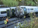 2 Orang Tewas, Kereta Cepat Kecelakaan di Portugal