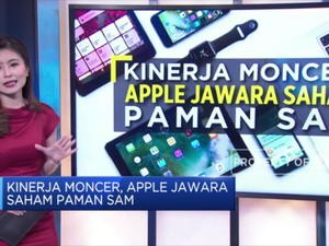 Kinerja Moncer, Apple Jawara Saham Paman Sam