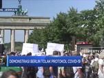 Demonstrasi Berlin Tolak Protokol Covid-19