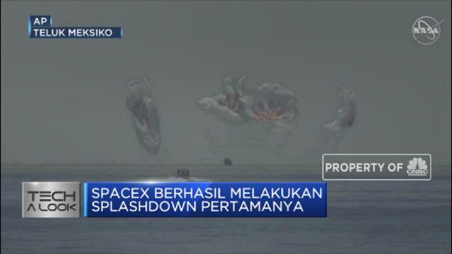 Top! SpaceX Berhasil Kembali ke Bumi