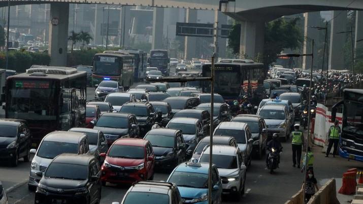 Ganjil Genap Jakarta (CNBC Indonesia/Muhammad Sabki)
