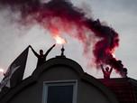 Rusuh! Warga Jerman Demo Sebut Covid-19 Konspirasi
