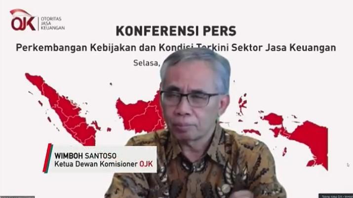 Ketua Dewan Komisioner Otoritas Jasa Keuangan Wimboh Santoso (Tangkapan Layar Youtube Jasa Keuangan)