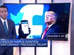 Facebook Hapus Unggahan Trump 'Misinformasi' Soal Covid-19