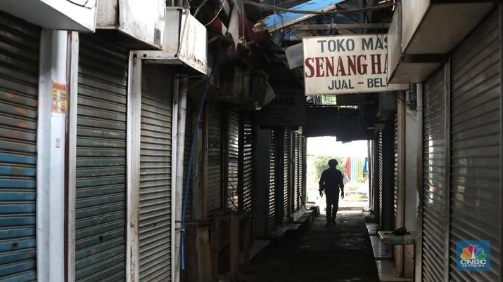 Ilustrasi Resesi Indonesia. (CNBC Indonesia/Muhammad Sabki)