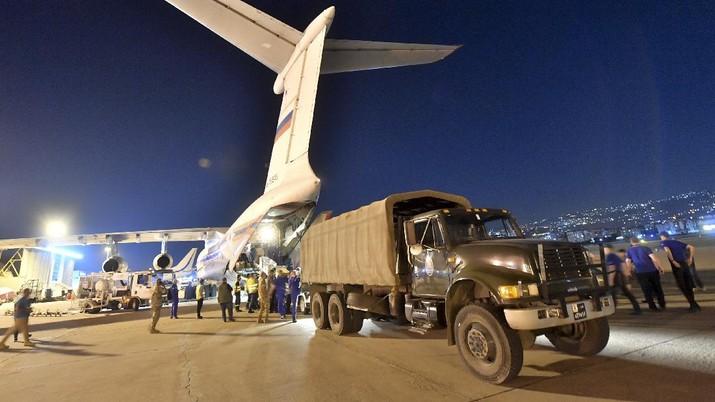 Rusia kirim bantuan ke Libanon. AP/