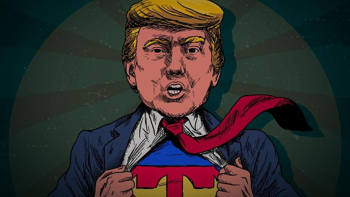 Infografis: Donald Trump Jadi Superman, Bawa Kado Besar Buat AS
