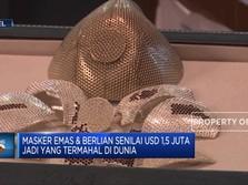 Masker Corona Berlapis Emas & Berlian