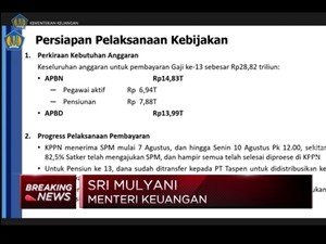 Sri Mulyani Pastikan ASN,TNI-Polri & Pensiunan Dapat Gaji 13