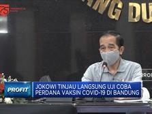 Jokowi Tinjau Langsung Uji Coba Vaksin Covid-19 di Bandung