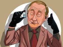 Ogah Disorot Kamera, Putin Terima Suntikan Kedua Vaksin Covid