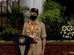 Perangi Covid-19, Jokowi Sebut Jiwa Pramuka Harus Ditanamkan
