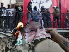 Protes Ledakan Beirut, Warga Lebanon Desak Presiden Mundur