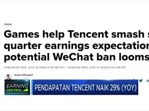 Pendapatan Tencent Naik 29% (YOY), Game Penyumbang Terbesar