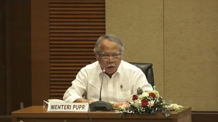 Menteri PUPR Basuki Hadimoeljono Konferensi Pers Nota Keuangan dan RUU APBN 2021