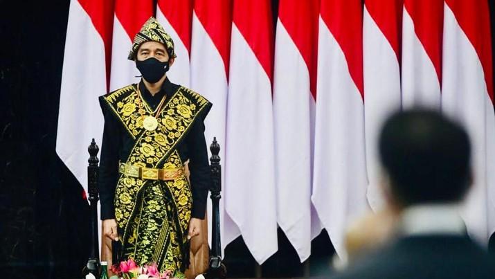 Pidato Presiden RI Jokowi di Sidang Tahunan MPR RI  Dan Sidang Bersama DPR RI Dan DPD RI (Muchlis Jr - Biro Pers Sekretariat Presiden)